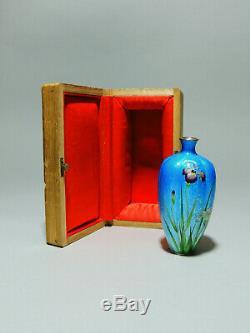 Stunning Antique Japanese cloisonne Gintai Jippo vase