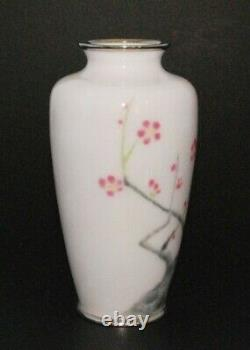 Stunning Japanese Cloisonne Enamel Vase by Sato Completely Wireless (Musen)