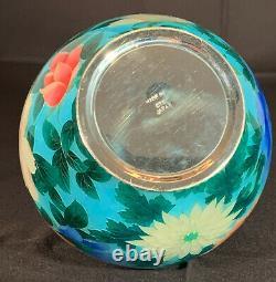 Stunning Japanese Cloisonne Plique A Jour Vase signed OTA