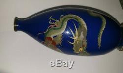 Superb Meiji Period Japanese Cloisonne Dragon Vase