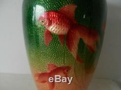 Superb japanese meiji cloisonne vase