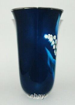 Tall Japanese Cloisonne Enamel Trumpet form Vase by the Ando Workshop