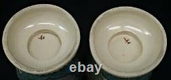 True Pair of Large Antique Japanese TOTAI CLOISONNE VASES, 12/30cm c1880-1910