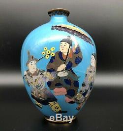 Unusual 19th C Japanese Cloisonne Enamel Ovoid Vase