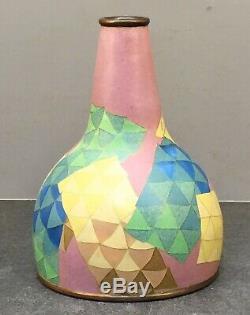 Unusual Japanese Taisho Art Deco Style Cloisonne Vase