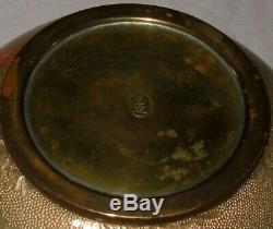 VERY RARE OGASAWARA SHUZO Signed Meiji Japanese Ginbari Cloisonne Bowl Vase