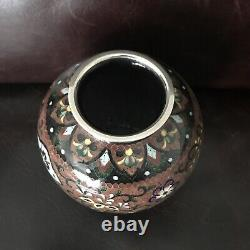 Vintage Japanese Fine Cloisonne Vase 5 Inches Tall Excellent