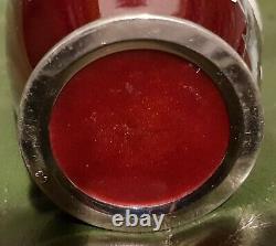 Vintage Stamped Japanese Pigeon Blood Cloisonne Vase